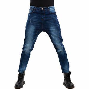 Jeans pantaloni uomo bottoni cavallo basso harem sarouel denim cotone nuovi M240
