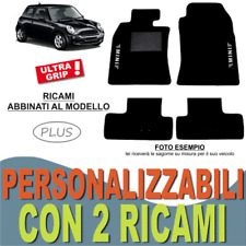 PER MINI COOPER R50 R52 R53 TAPPETI AUTO SU MISURA MOQUETTE GOMMA 2 RICAMI EASY