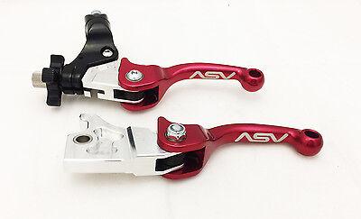 Clutch Levers Kit Raptor 700 2007+ ASV Red F3 Unbreakable Folding Brake