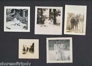 1920's - 1940's AFRICAN AMERICAN PHOTO LOT ~ POOL SIDE SWIM SUIT ~ ARMY ~ FAMILY