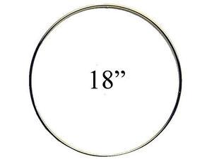 """18"""" Macrame Metal Ring Hoop Brass"""