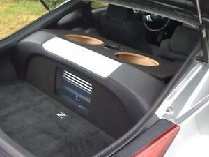 Fits-Nissan-350Z-Custom-Sub-Box-Subwoofer-Enclosure-amp-Plexiglass-Amp-Rack