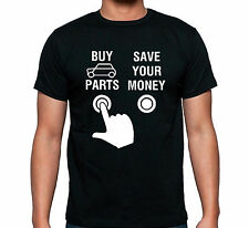 "Classic Mini Cooper 1275gt T Shirt "" Press the button"""