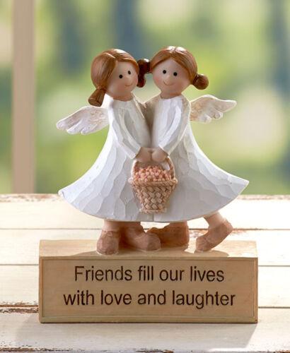 1 FRIENDS INSPIRATIONAL ANGEL FIGURINE TABLE MANTEL SHELF DESK HOME DECOR GIFT