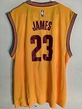 Adidas NBA Jersey Cleveland Cavaliers LeBron James Gold sz XL