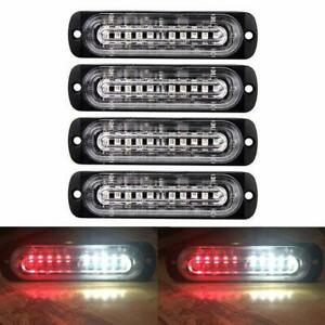 4X-LED-Side-Marker-Light-Indicator-Lamp-Strip-Car-Truck-Trailer-12-24V-Red-White