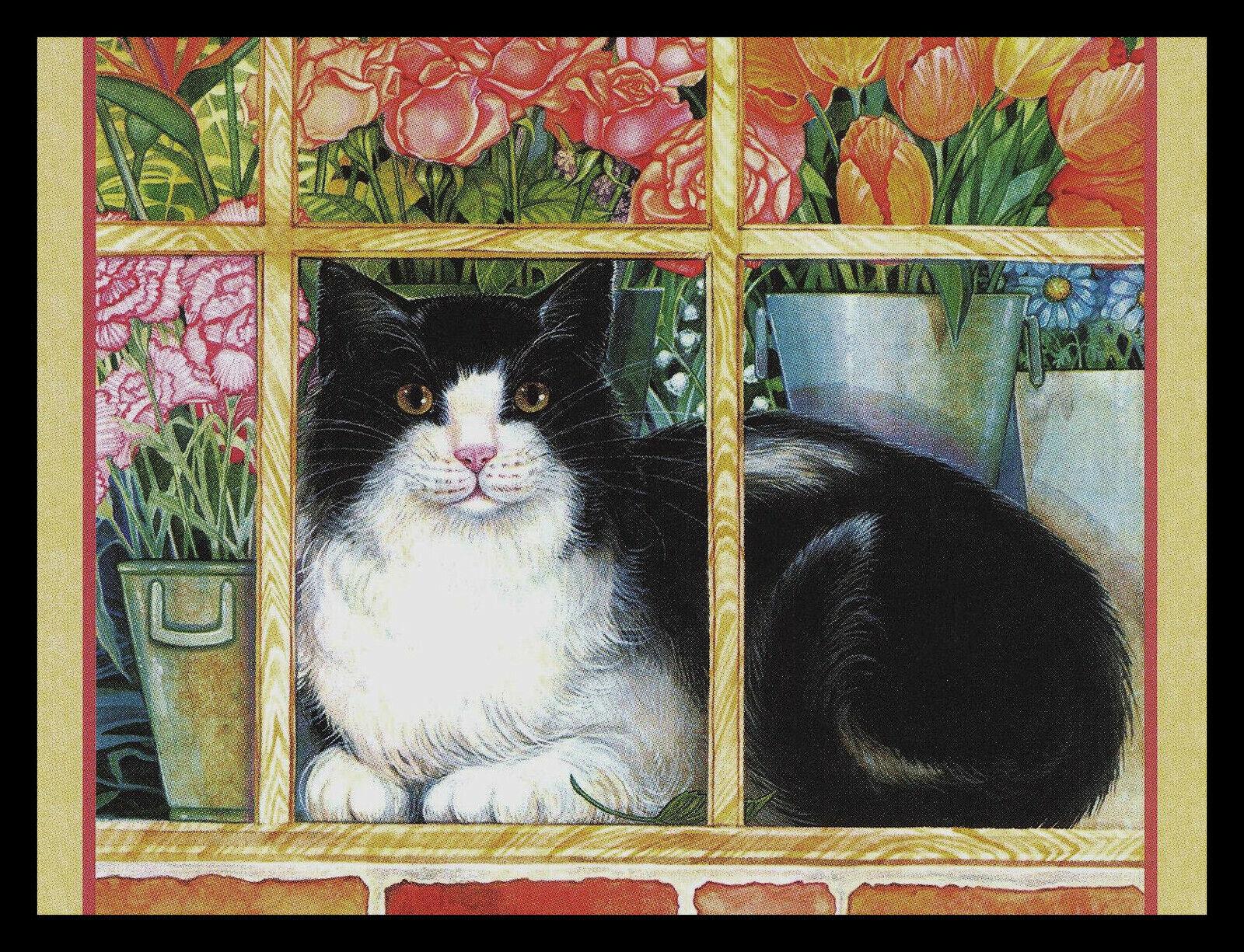 941-MSA Howard Robinson CAT KITTEN Blank Greeting Note Card NEW