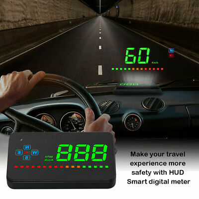 Head Up Display G3 Automatic Head-Up Display Hud Display Obd2 And Projection Screen Speedometer Automatic Height Overspeed Alarm