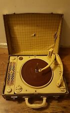 Vintage Regentone Portable Record Player Collaro RC54 Prop Display Not tested