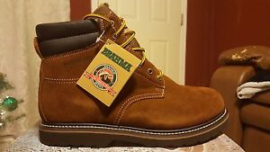 0aaf582ca03 Details about Brahma Bravo Brown Suede Waterproof Soft Toe Work Boots Size  13XWide EE