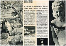 Coupure de presse Clipping 1959 (2 pages) Sophia Loren
