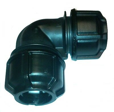 MDPE Philmac Elbow Bend Compression Fitting 20 25 32mm 50 63mm 3GMetric/Imperial