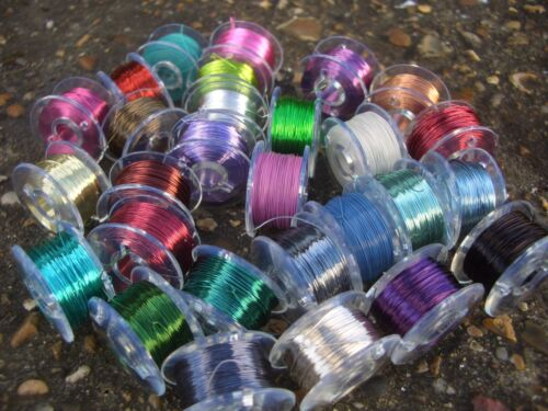 0.20mm COLOURED COPPER WIRE  FOR FLY TYING HIGH QUALITY 25metres 30 colours