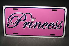 PRINCESS METAL NOVELTY CAR LICENSE PLATE TAG PINK GIRL