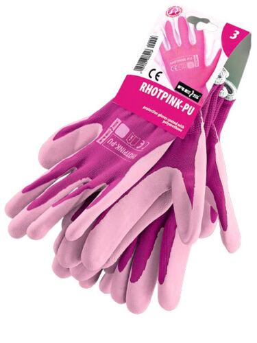 3 Paar Gartenhandschuhe Handschuhe Damen Größe 6-7 8-9 ROSA