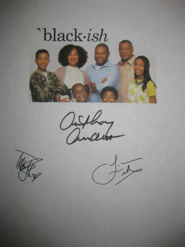 Blackish signed TV Script Anthony Anderson Ellis Ross Laurence Fishburne reprint