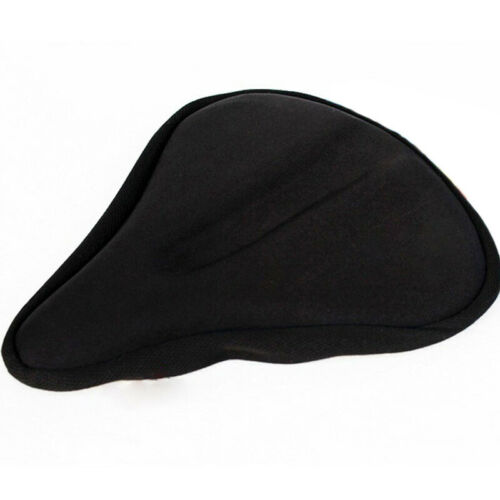 Exercise Bike Seat Gel Cushion Cover For Large /&Wide Bicycle Saddle-Pad Cycling