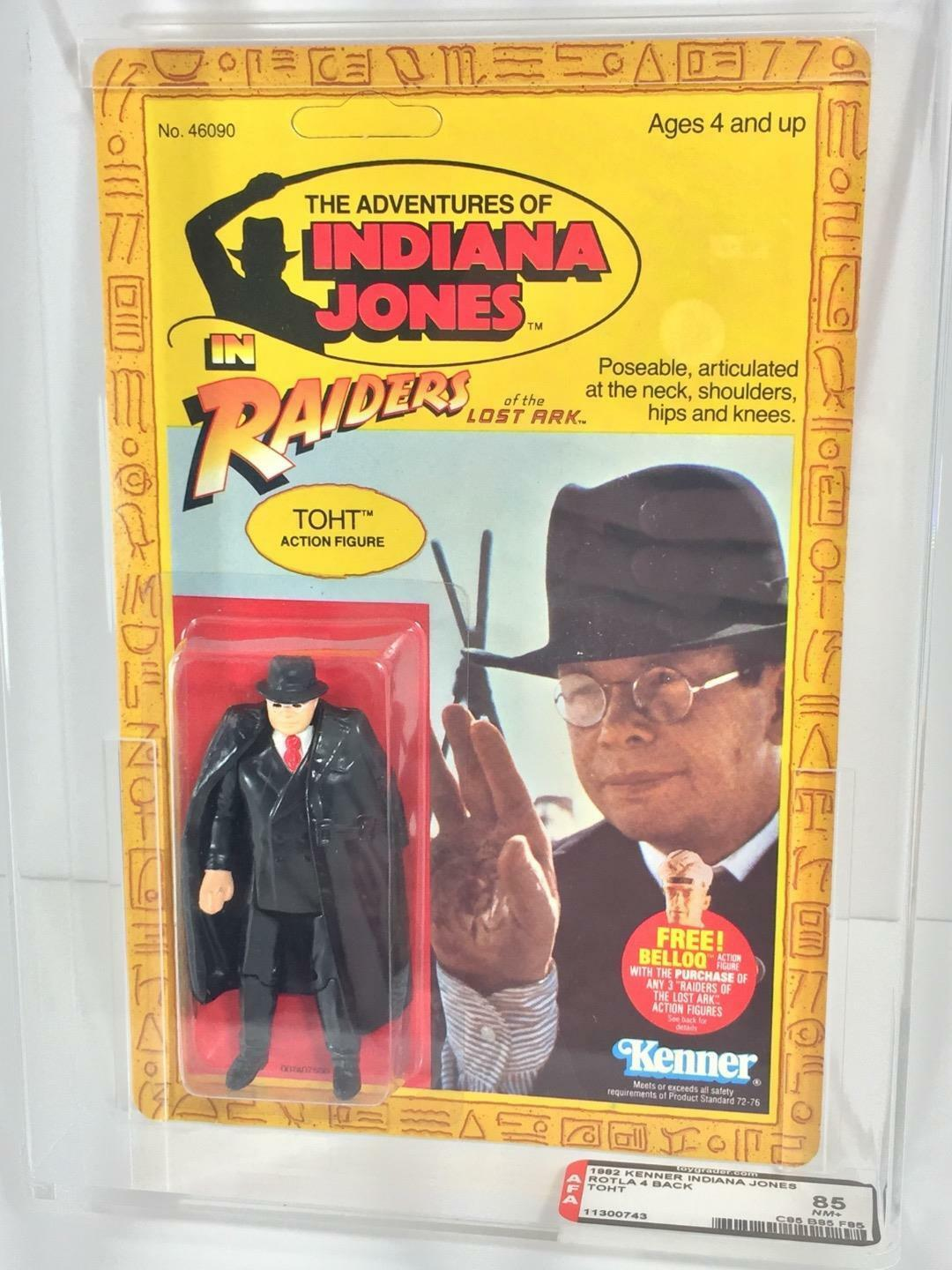 1982 Kenner RAIDERS OF THE LOST ARK (redLA) TOHT AFA 85 (C85 B85 F85) unpunched