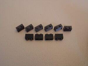 Brick Brique 1x2 2x1 Grill Grille 2877 Dark Bluish Gray Choose Quantity Lego
