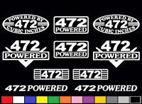10 Decal Set 472 Ci V8 Powered Engine Stickers Emblem Caddy Vinyl Decals