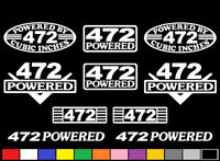 10 Decal Set 472 Ci V8 Powered Engine Stickers Emblem Caddy Vinyl Decals