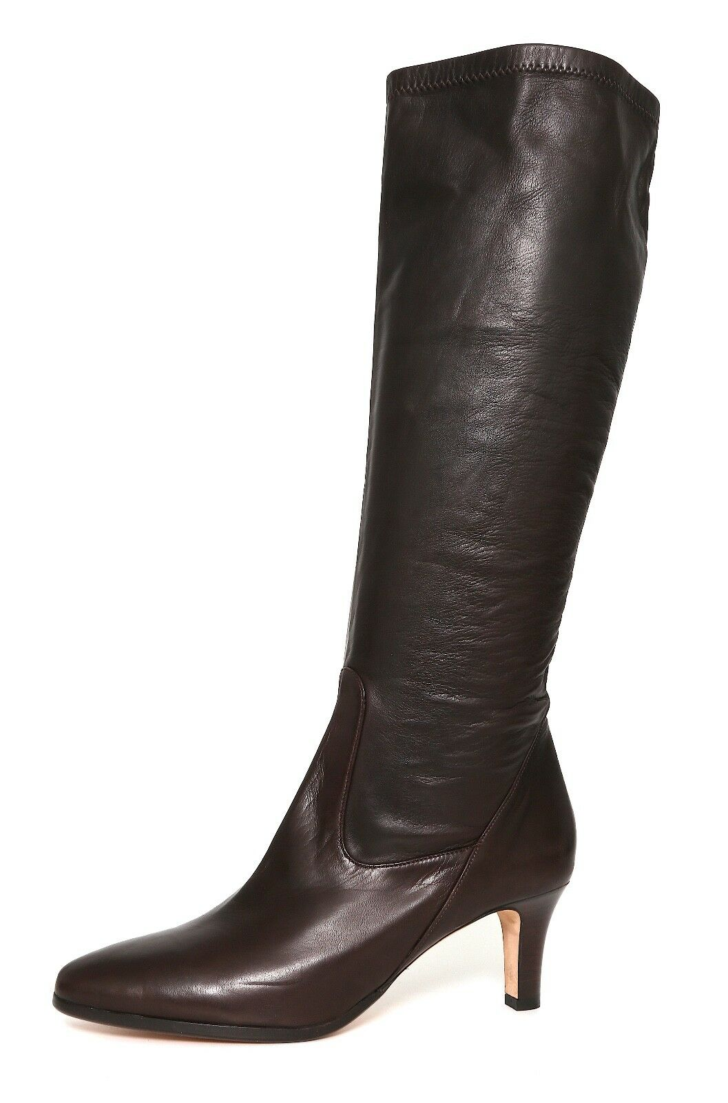 Cole Haan Haan Cole Pull On Leather Knee High Boots Brown Women Sz 9.5 B 5083 * 3b2907