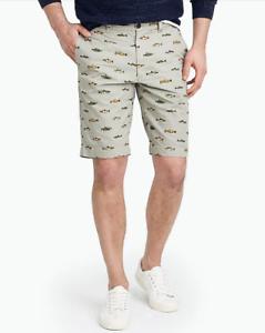 Mens-J-CREW-11-034-Rivington-Printed-Lightweight-Chino-Shorts-Size-32-59-50