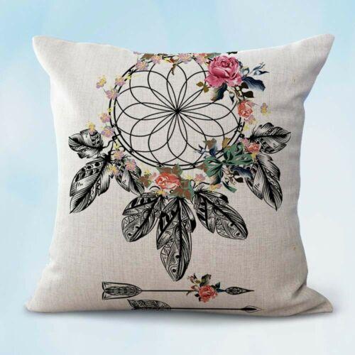 decorative pillow case for bed native American dreamcatcher boho