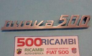 SCRITTA NUOVA 500 ALLUMINIO PER FIAT 500