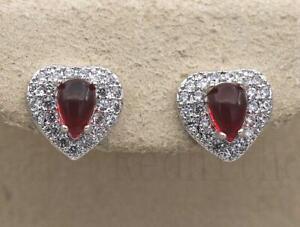 18K Gold Filled Earrings Diamond Clear Topaz Hollow Zircon Ear Hoop Stud Lady DS