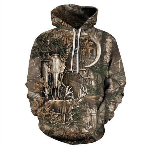 Mens Women/'s Hoodie 3D Print Sweater Sweatshirt Jacket Coat Pullover Animal Tops