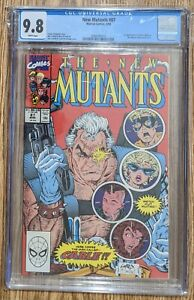 NEW MUTANTS #87 CGC GRADED 9.8 WHITE PAGES 1990 1st CABLE