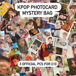 Kpop-Official-Photocard-Mystery-Bag-3pc-BTS-Stray-Kids-SF9-Twice-Blackpink-EXO