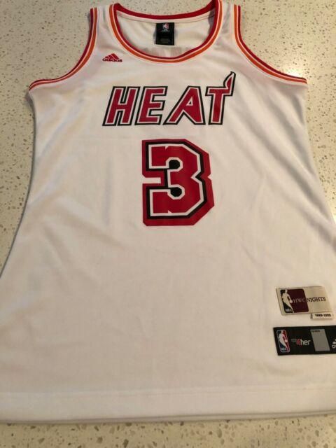 reputable site 8f32e 6e1a3 Adidas NBA 4 Her Women's Size M Miami Heat Dwyane Wade Jersey HWC Nights NEW