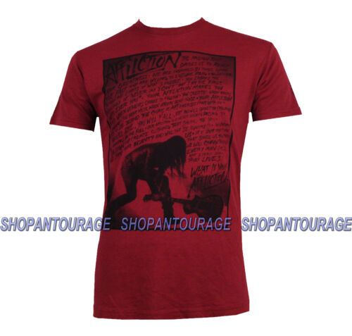 AFFLICTION Creed Smash A7489 Men`s New Short Sleeve Graphic Red T-shirt