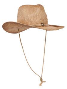 Raffia-Western-Cowboy-Hat-Tea-Stain