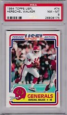 1984 Topps USFL #74 HERSCHEL WALKER (R) PSA 8 NM/MT NJ GENERALS / Georgia