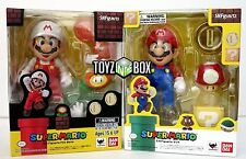 """In STOCK S.H. Figuarts """"Fire + Super Mario"""" Bros. Brothers Bandai Action Figure"""