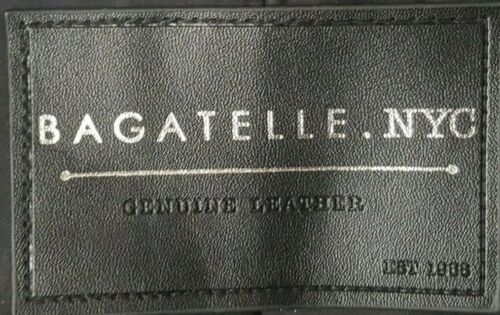 Bagatelle Western Biker Moto Studded Suede Leather Jacket Dark Brown Lace-Up S