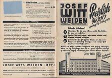 WEIDEN, Preisliste Nr. 210 1937, 2 Beilagen, Versandhaus Josef Witt Damen-Mode