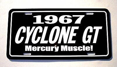 1967 Mercury CYCLONE GT License plate tag 67 Comet  Muscle car