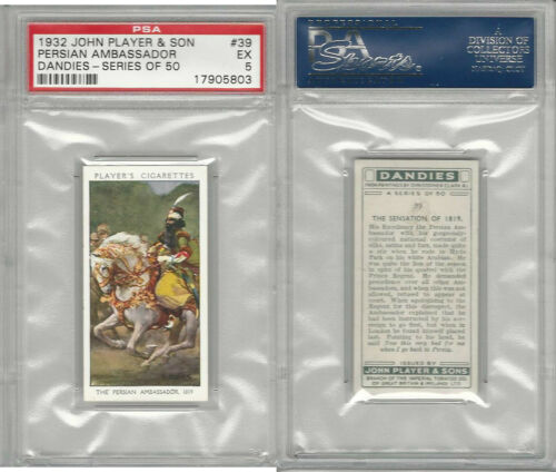 P7287 John Player, Dandies, 1932, #39 Persian Ambassador, PSA 5 EX