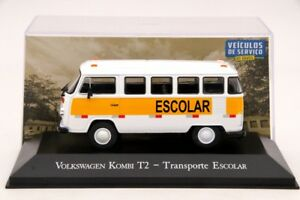 1-43-Altaya-Volkswagen-Kombi-T2-Transporte-Escolar-Diecast-Models-Car-IXO-Toys