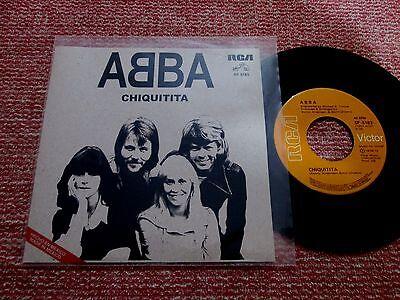 Abba-Chiquitita Mexico single record Promo Unique cover RCA