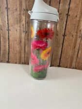 Tervis 1219216 Mom Vines Tumbler with Wrap and Purple Lid 24oz Clear