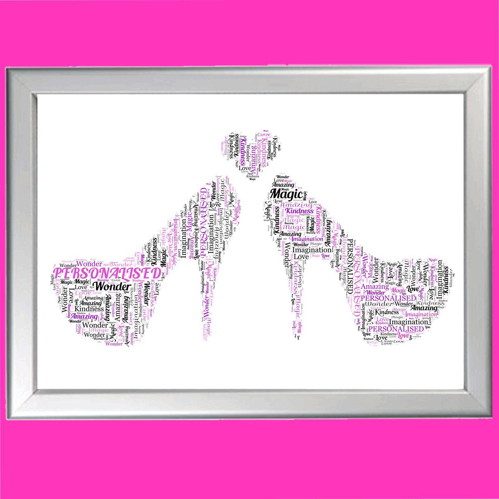 Scarpa Word ARTE  Personalizzata Personalizzata Personalizzata Regalo Compleanno 1st 18th 21st 30A 40A 50T 3d4fbd
