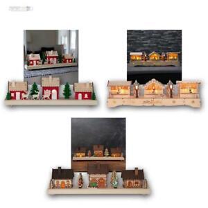 weihnachtshaus mit led beleuchtung timer batteriebetrieb. Black Bedroom Furniture Sets. Home Design Ideas
