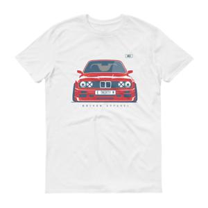 Bmw Weiche Baumwolle Weiß oder Grau T-Shirt M3 E30