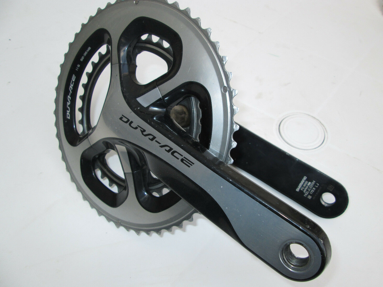 52  36 172.5mm Midcompact Shimano Dura Ace 9000 Crankset Road Cycling