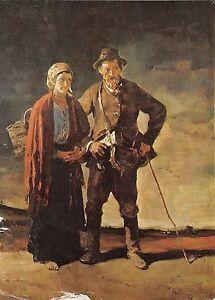 B75080-rudnay-gyula-old-pessant-couple-of-gomer-painting-postcard-art